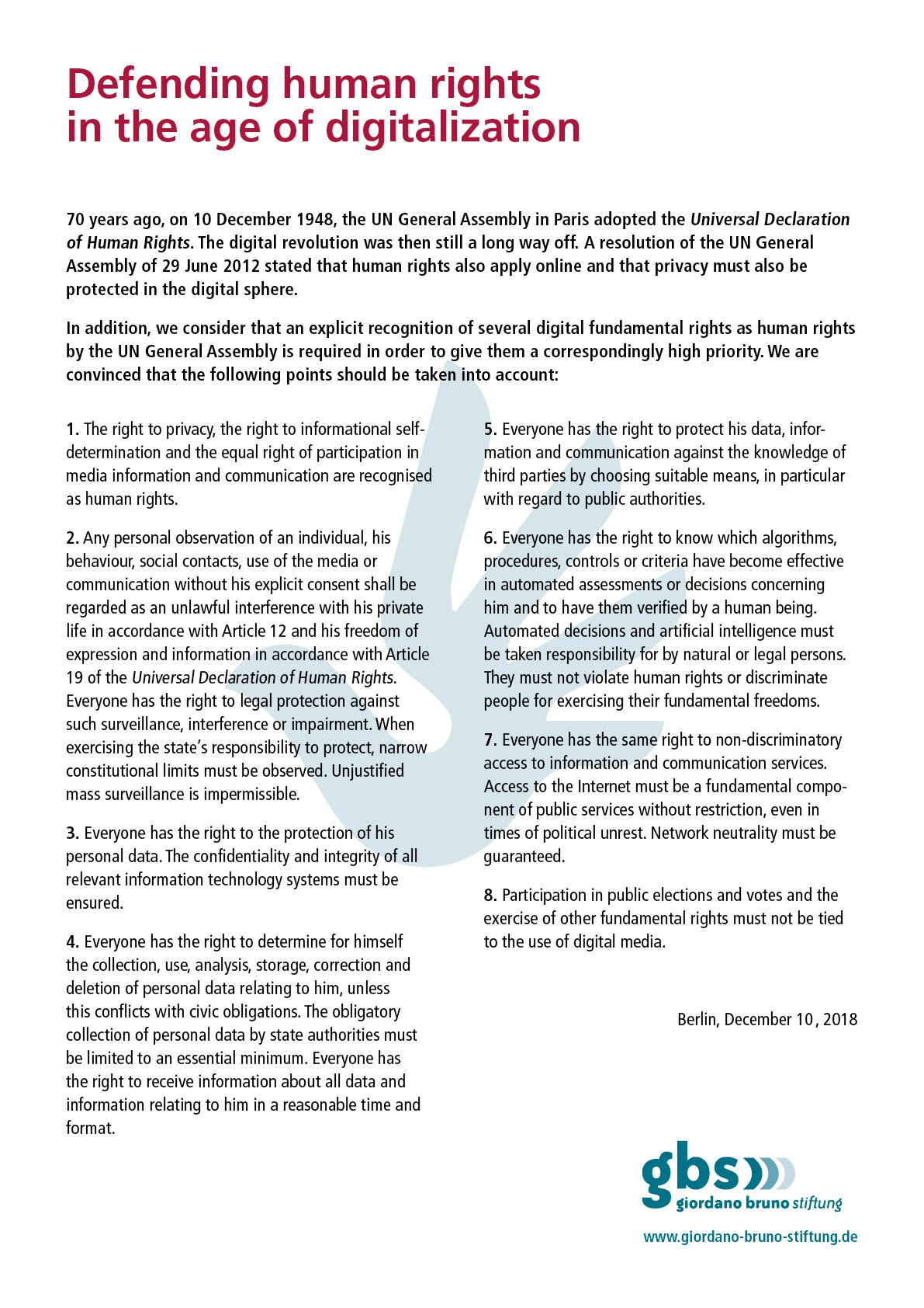 Document: Defending human rights in the age of digitaliszation
